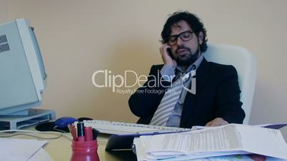 Office Work Employee caught in private phone talk