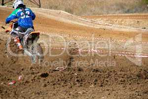 Racing dirtbikes