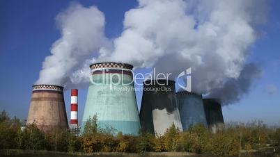 power station, time lapse