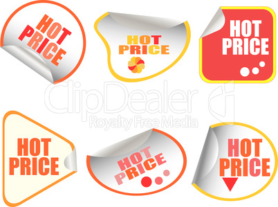 Hot Price Vector Button stickers set card