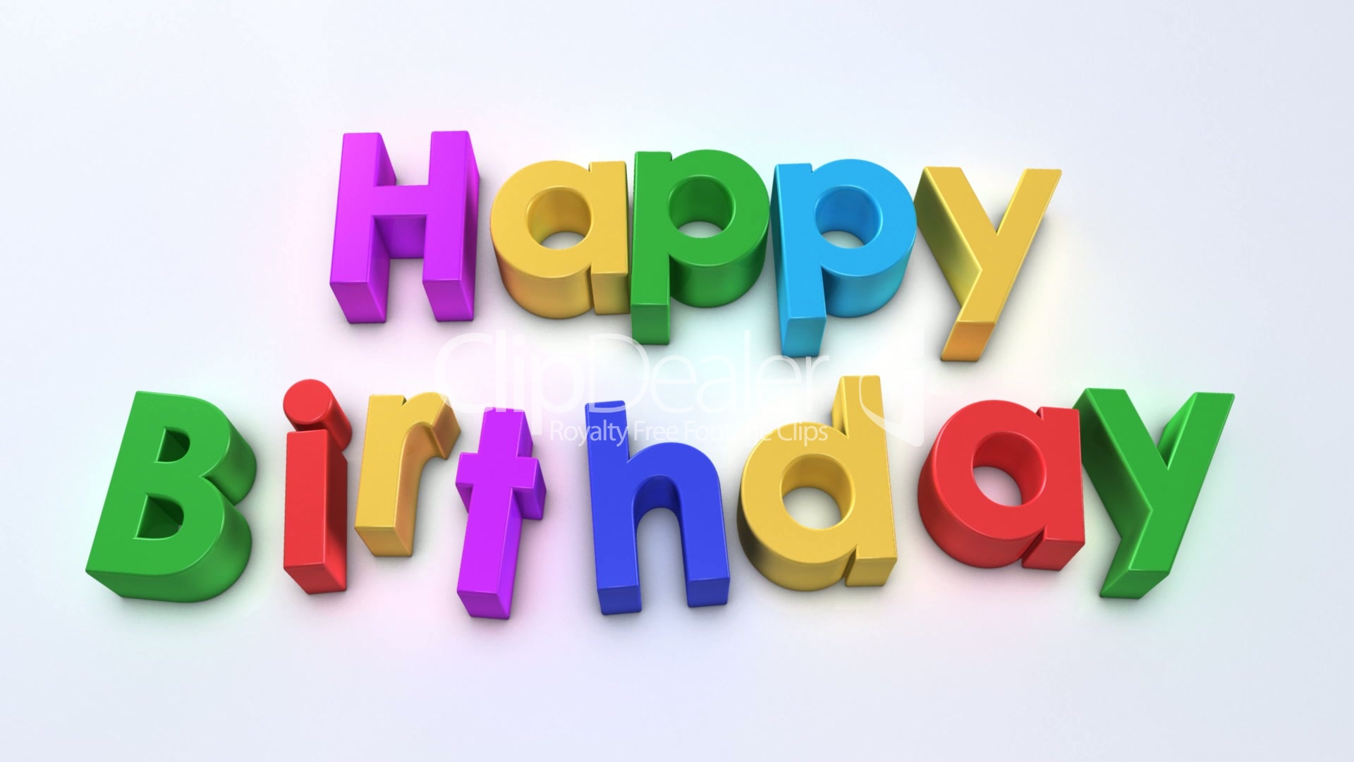 happy birthday magnetic Lizenzfreie Stock Videos und Clips