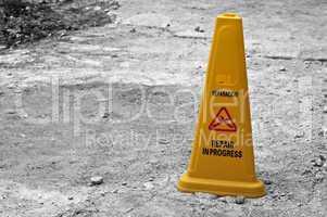 Yellow cone.