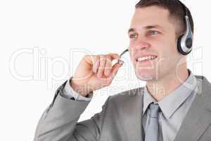 Operator using a headset