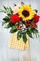 Blumenstrauss mit Sonnenblume - Bouquet with Sunflower