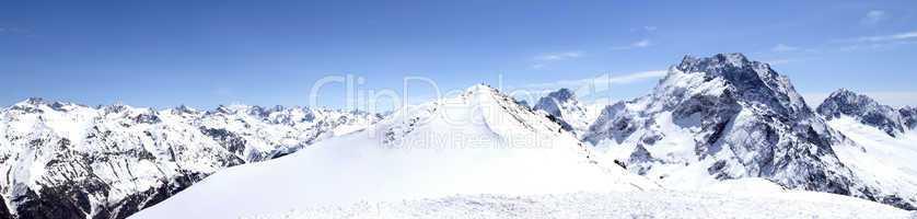Panorama Caucasus Mountains