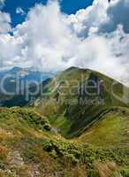 Hiking: Carpathian mountains landscape