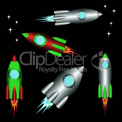 Space rockets.