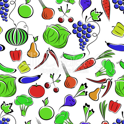 Vegetables and fruit.