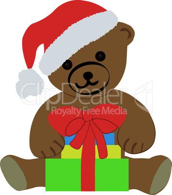 Teddybär mit Weihnachtgeschenken-Teddy bear with Christmas gifts