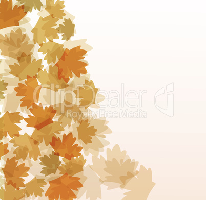 Fall autumn vector background greetings card