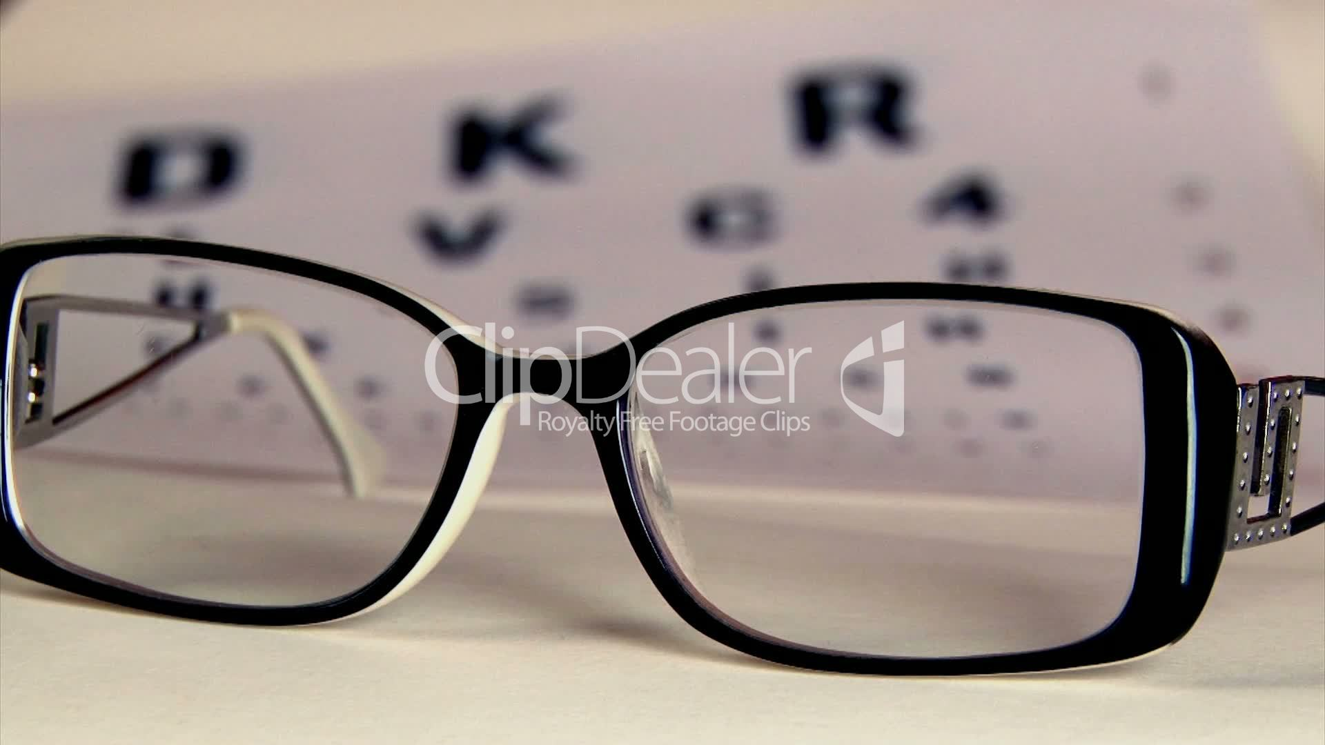 Eye test and eyeglasses: Royalty-free video and stock footage