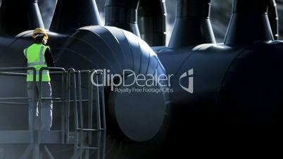 Geothermal Power Plant Engineer on Site
