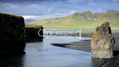 Lone Hiker Exploring in Arctic Landscape