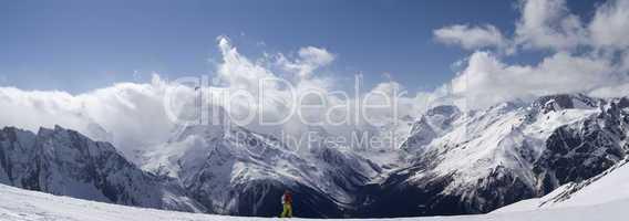 Panorama Mountains. Ski resort.