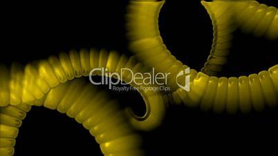 swirl smoke chain stripe ribbon,hairy curve,spiral DNA strand,alien tail body.