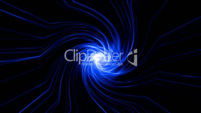 swirl blue fibre optic cable rays light,tunnel hole in space,lines probe in space,computer virtual data,energy aurora Taichi field in universe.