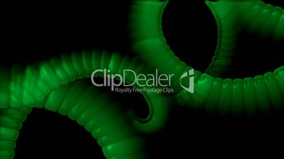 swirl smoke chain stripe ribbon,hairy curve,spiral DNA strand,worm tail body.