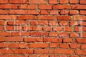Fragment of brick walls