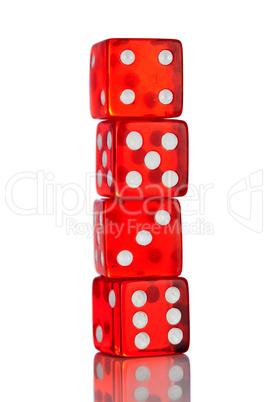classic red dice