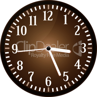 Vintage clock grunge isolated on background vector
