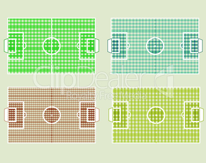 Set of different colors Football Fields vector