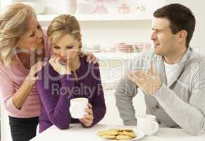 Familie in einer schwierigen Lage