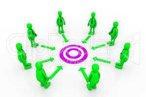 Team work target