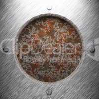 aluminum and rusty metal plate