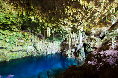 Cave with underground lake