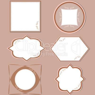 Set of floral and vintage royal frames vector