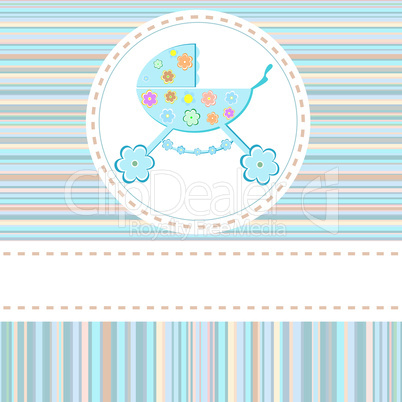 Baby boy arrival announcement vector greetings card