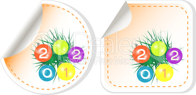 christmas stickers. 2012 Labels set. vector