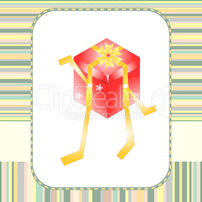 Holiday gift boxes decorated with ribbon vector