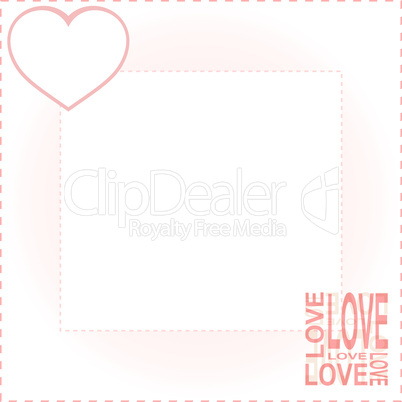 valentines background with red love heart vector