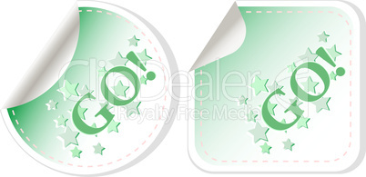 GO label for design isolated on white background vector