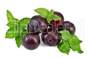 Plum and mint