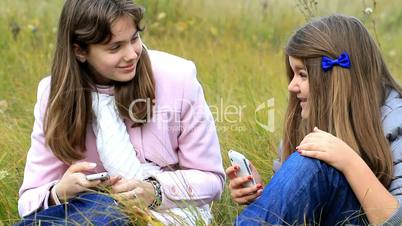 two friends talking to each other.