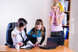 Three pretty businesswomen