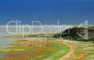 Sylt Morsumer Kliff mit Blick auf den Autoreisezug