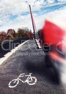 biker roadsign