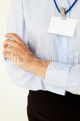 Blank business badge isolated on white