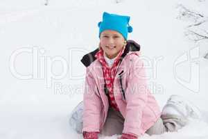 7 Year Old Girl On Winter Vacation