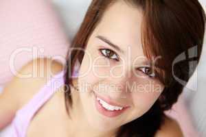 Teenage girl head and shoulders