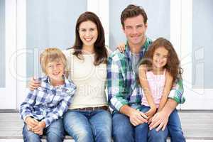 Portrait family outdoors