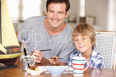 Father model making with son