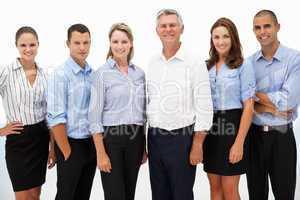 Gemischte Gruppe von Geschäftsleuten
