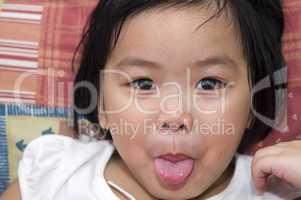 playful Asian girl
