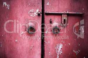 ancient red door