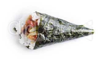 Hand roll temaki sushi