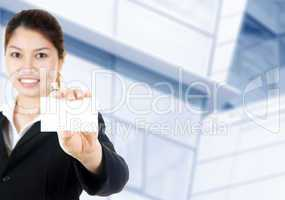 Blank business card.
